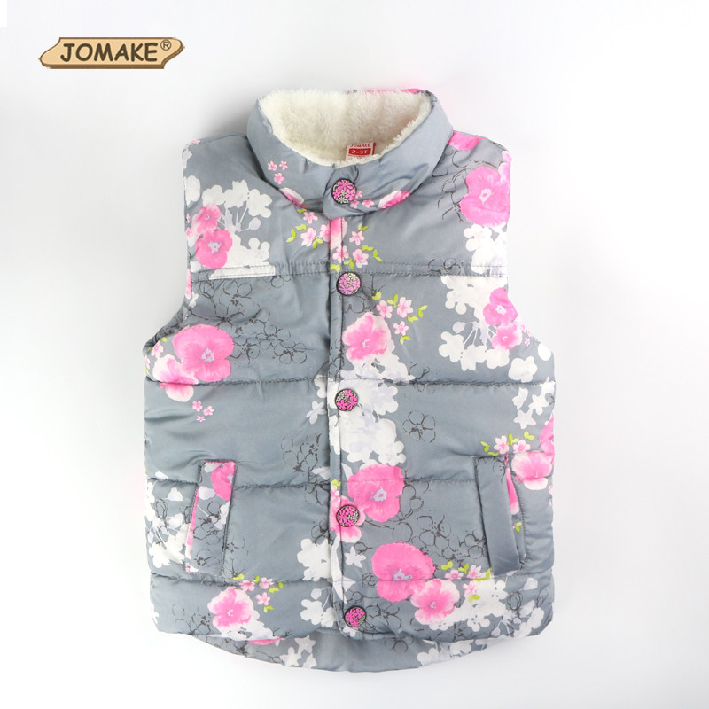 Autumn Girls Outerwear Floral Baby Girls Vest Baby Outerwear European And American Style Outerwear & Coats Princess Girls Vest