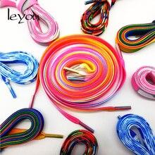Leyou 80-150 см плоские шнурки для детей и взрослых спортивные кроссовки с шнурками разноцветные шнурки для обуви Новинка