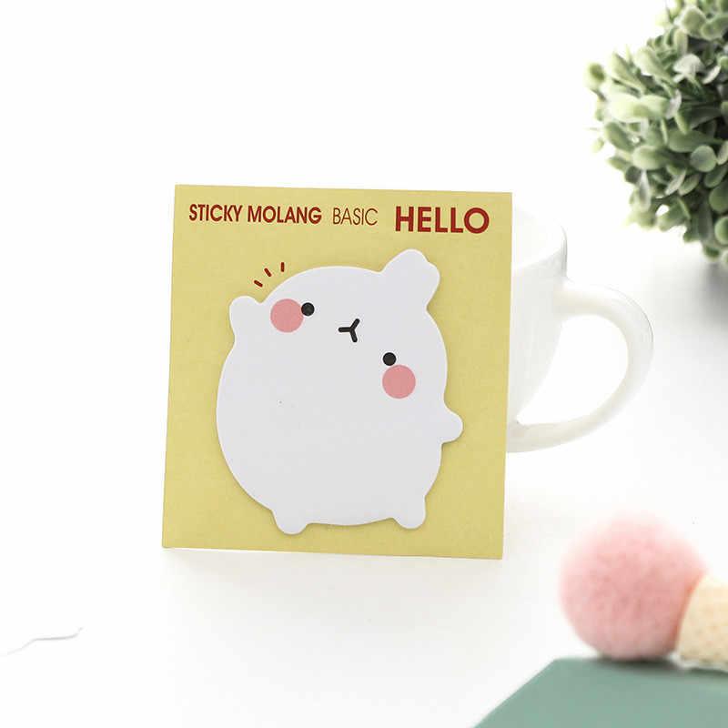 1 Pc Korea Kelinci Stiker Kawaii Self-Perekat Lengket Catatan Stationery Planner Memo Pad Lucu Papeleri