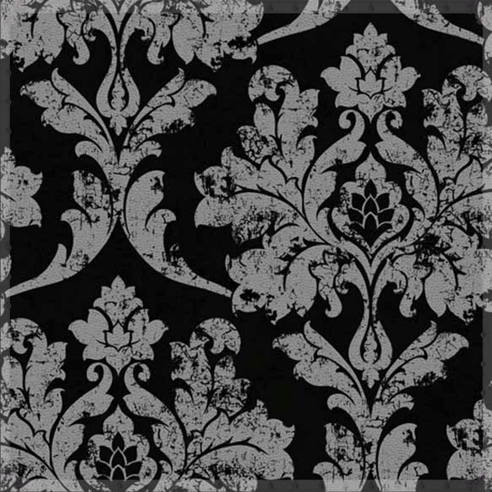 Us 53 09 Home Decor Black Silver Damask Wallpaper Bedroom Wallpaper Background Wall Wallpaper Black Floral For Living Room Wp510 Cold Wat In