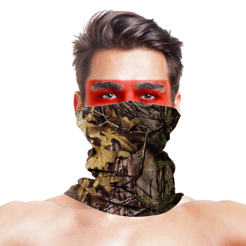 High-Jump Maple Leaf Hunting Bandana Scarves Polyester Anti UV Half Face Mask Bandana Tactical Military Wear Hunting Accessories