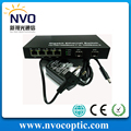 4 1000 M Fibra Puertos + 2 Puertos SFP Gigabit Ethernet De Fibra Óptica Interruptor