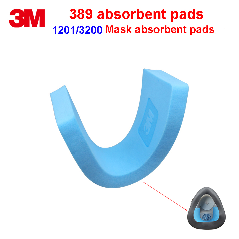 3M 389 absorbent pads 1201 1203 3200 HF-52 Dust gas masks Special pad Water absorption Sweat Health pad thicken household absorbent pad