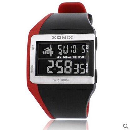 XONIX GI series 10 ATM waterproof multifunctional sport LED digital chronograph watch comfortabe Cycling swimming running - New Funland store