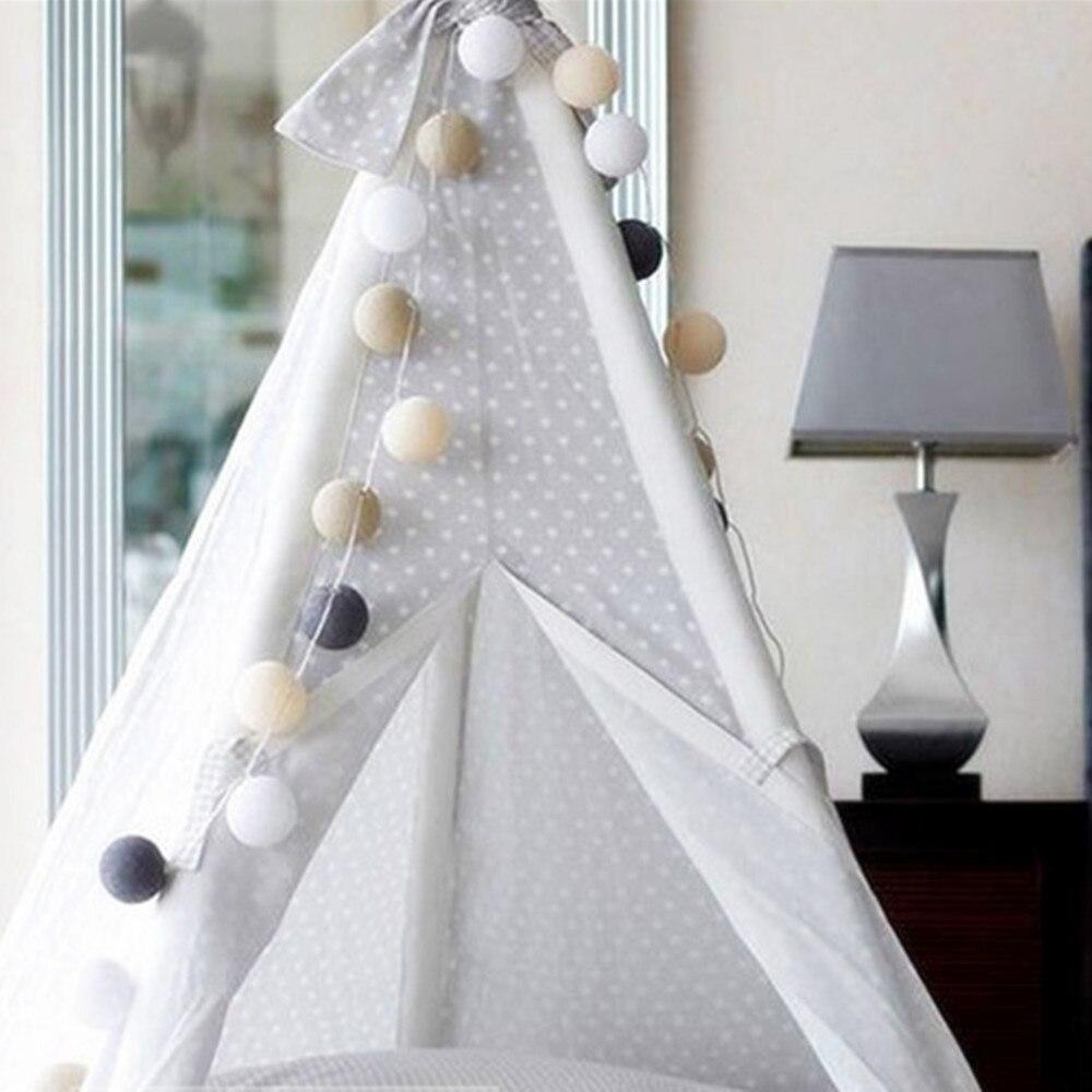 Vikerkaarevärv puuvillane palli stringi valgus jõulupühade - Puhkusevalgustus - Foto 6