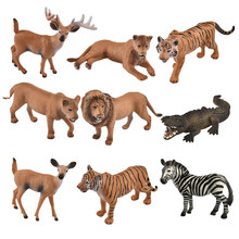 11 style Simulation Lion Tiger Deer Moss Micro World Bonsai Garden Small Ornaments Landscape Home decoration Accessories(China)