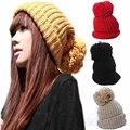 2016 новые Женщины Леди Зима Теплая Трикотажные Вязания Слауч Багги Беретом Шапочки Hat Cap