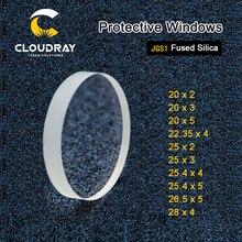 Cloudray לייזר מגן Windows D20 D29 סדרת קוורץ התמזגו סיליקה עבור סיבי לייזר 1064nm Precitec Raytools WSX