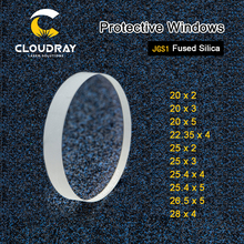 Cloudray ventanas protectoras láser serie d20 d29, sílice fundida de cuarzo para láser de fibra 1064nm Precitec Raytools WSX