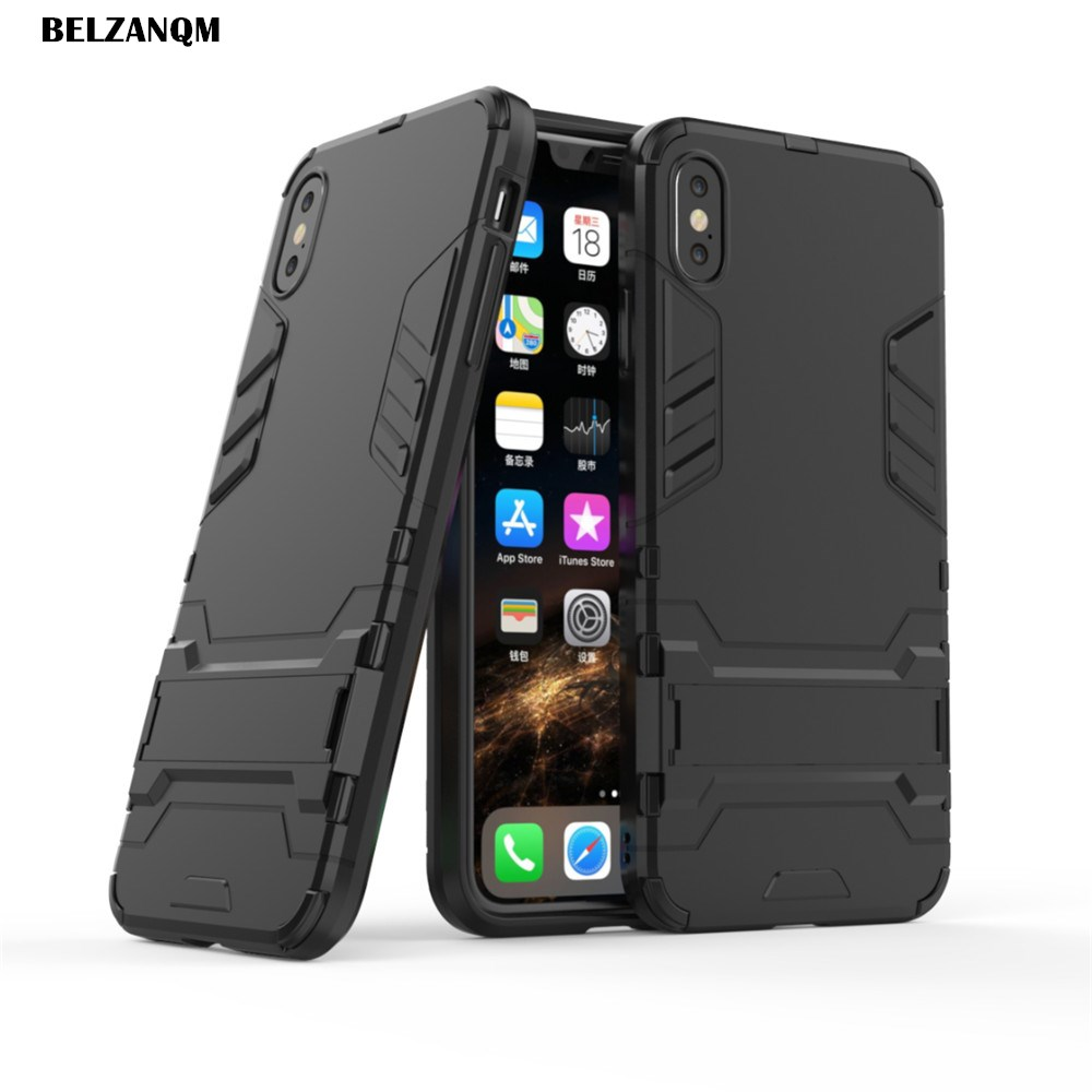 For iPhone Xs Case XS Max Case Hard PC Rugged Cases For iphone Xr XS Max Soft TPU Hybrid Armor
