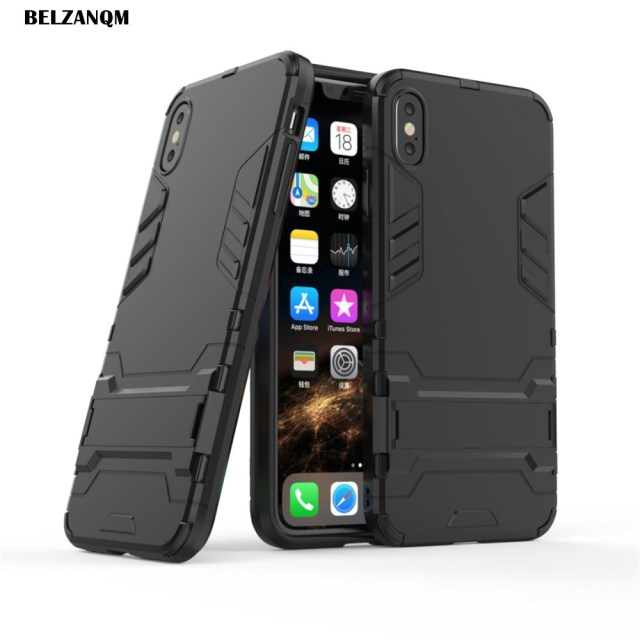 buy popular 0c66b 42988 US $1.94 35% OFF|Aliexpress.com : Buy For iPhone Xs Case XS Max Case Hard  PC Rugged Cases For iphone Xr XS Max Soft TPU Hybrid Armor Phone Cover ...