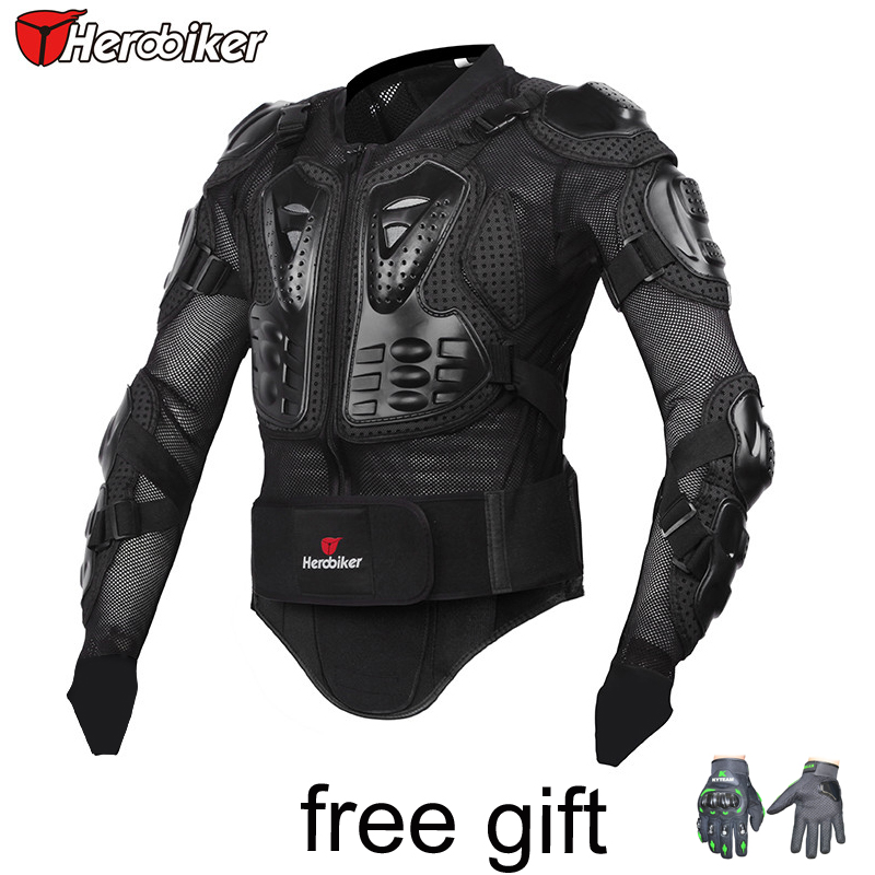 HEROBIKER Motorcycle Racing Armor Protector gear Motocross Off-Road Body Protection Jacket Clothing Protective Gear M,L,Xl,XXL