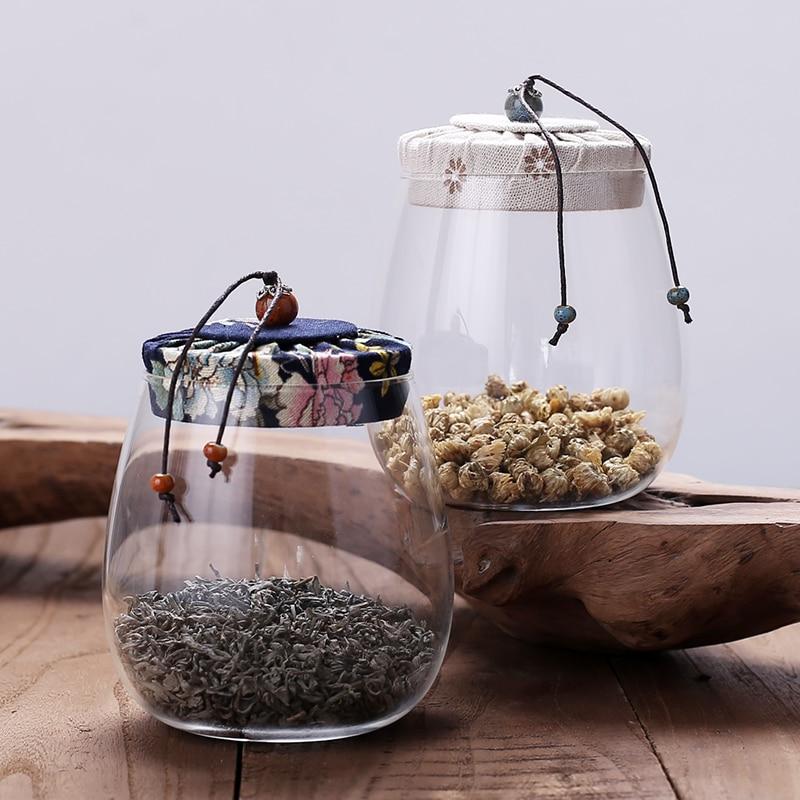 2018 New Creative Japanese Style Antique Glass Tea Jar Scented Tea Jar Small Storage Jar Coffee Beans Dried Grains Jar Bottles