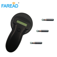 Large data storage Farm pig cattle EID RFID ear tag/ fish cat dog pets implant FDX B chip reader for animals