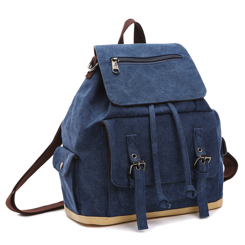 Vintage Canvas Men Backpack Preppy Style Schoolbags Travel Bag Trendy Laptop Bags Weekend Mochila B8