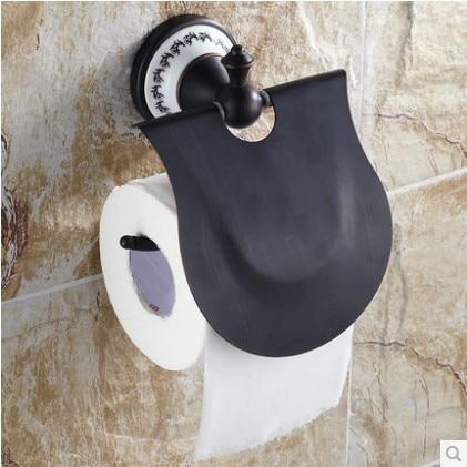ФОТО Black copper High-end bathroom toilet paper holder