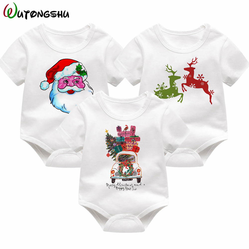 Christmas Baby Costume Baby Rompers Short Sleeve infantil Boys Girl Clothes For 0-12M Summer Spring Newborn Clothes bebe menino baby clothing summer infant newborn baby romper short sleeve girl boys jumpsuit new born baby clothes