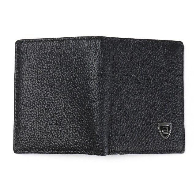 Carteira masculina de couro legítimo, pequena bolsa masculina feita em couro legítimo com compartimento para cartões partmone
