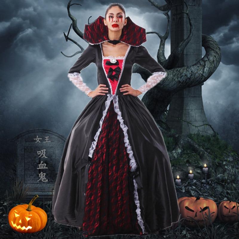 Nuevo Vestido de Mujer Vampiro Disfraces de Halloween Diablo Viste Vestido de Va