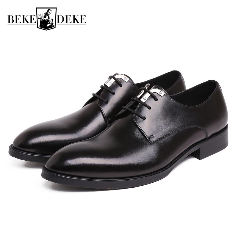 100% Genuine Leather Mens Wedding Dress Shoes High Quality Lace-Up Prom Oxford Shoes For Men Chic Office Work Business Footwear 2017 vintage retro custom men flat hot sale real mens oxford shoes dress wedding party genuine leather shoes original design