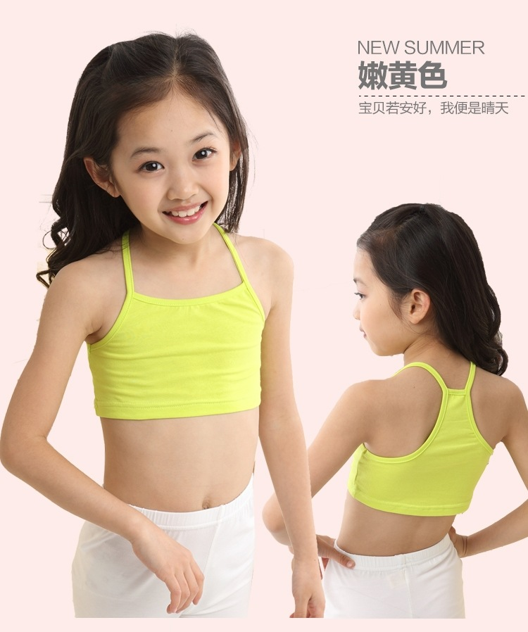 1e9f717286 US $2.83 37% OFF|V TREE Girls Bra camisole girl cotton vest child world of  tank girls underwear candy color girls tank tops kids clothing models-in ...