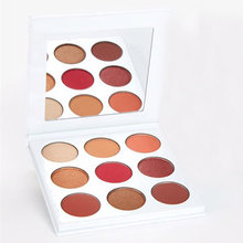 Newest 9 Colors Shimmer Matte Eye shadow Professional Makeup Burgundy Eyeshadow Palette Make up Set 9iN 1 Eyeshadow Pallete все цены