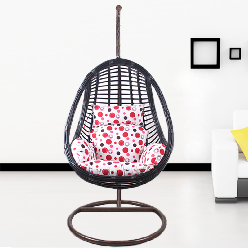 Egg Shaped Hollow Hanging Chair Rattan Chairs Wrought Iron Balcony Outdoor  Indoor Adult Swing Basket Shook His In Hanging Baskets From Home U0026 Garden  On ...