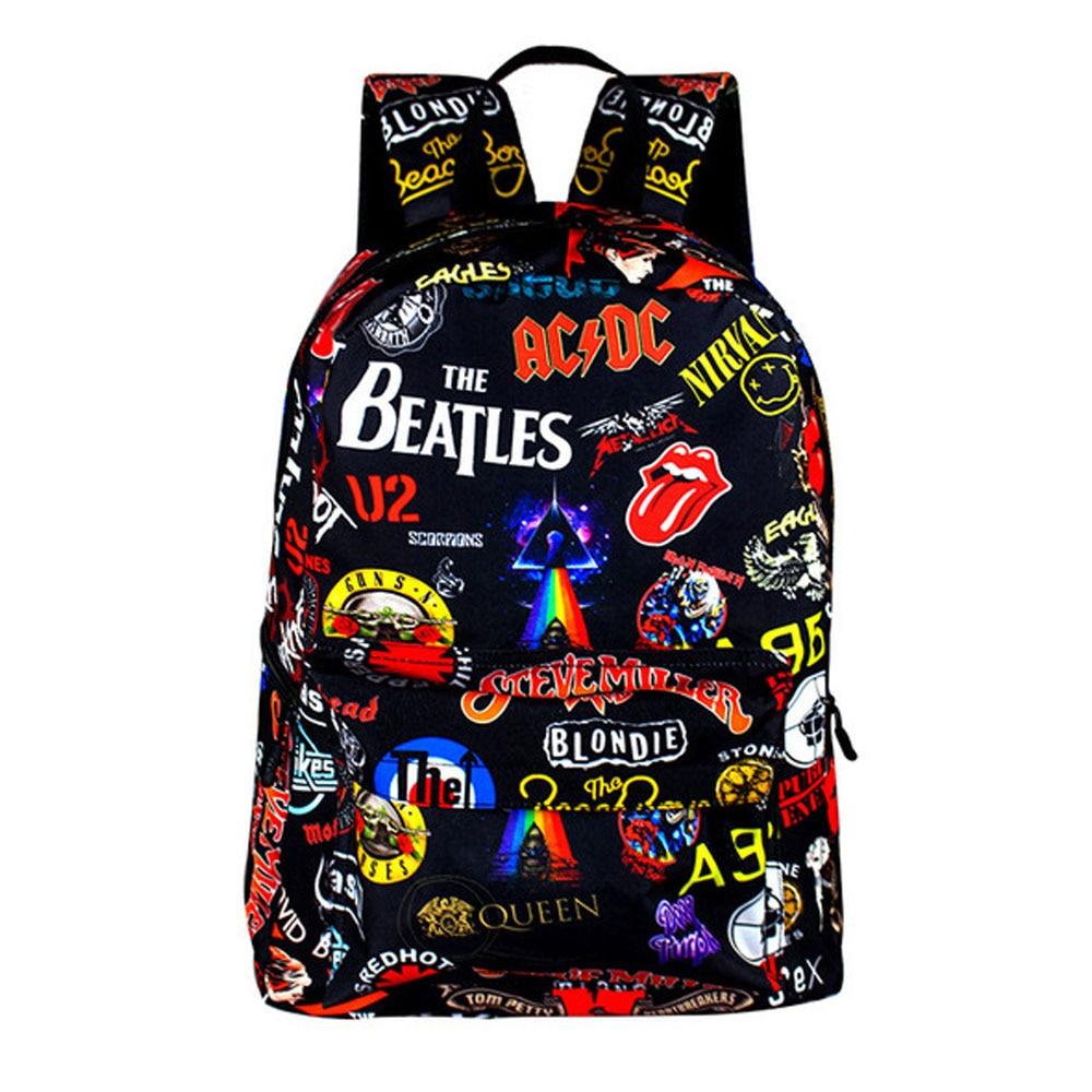 Adult Daily Backpack Teen Cool Cartoon 3D Printing Pattern Knapsack laptop Backpacks Black Traveling Daypack Children School Bag