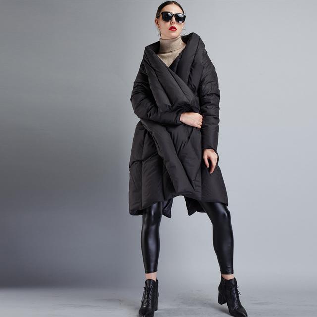 YVYVLOLO Women's Winter Jacket 2018 New Parka Women Irregular cloak Long plus size Winter Coat Women Thick Warm Female Coats