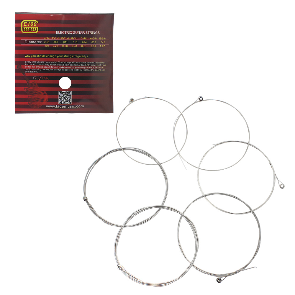 Irin E100 Acoustic Guitar String 6 Pcs Set Silver Pure Strigning Parts Diagram For Guitarra Bass Accessories In From Sports