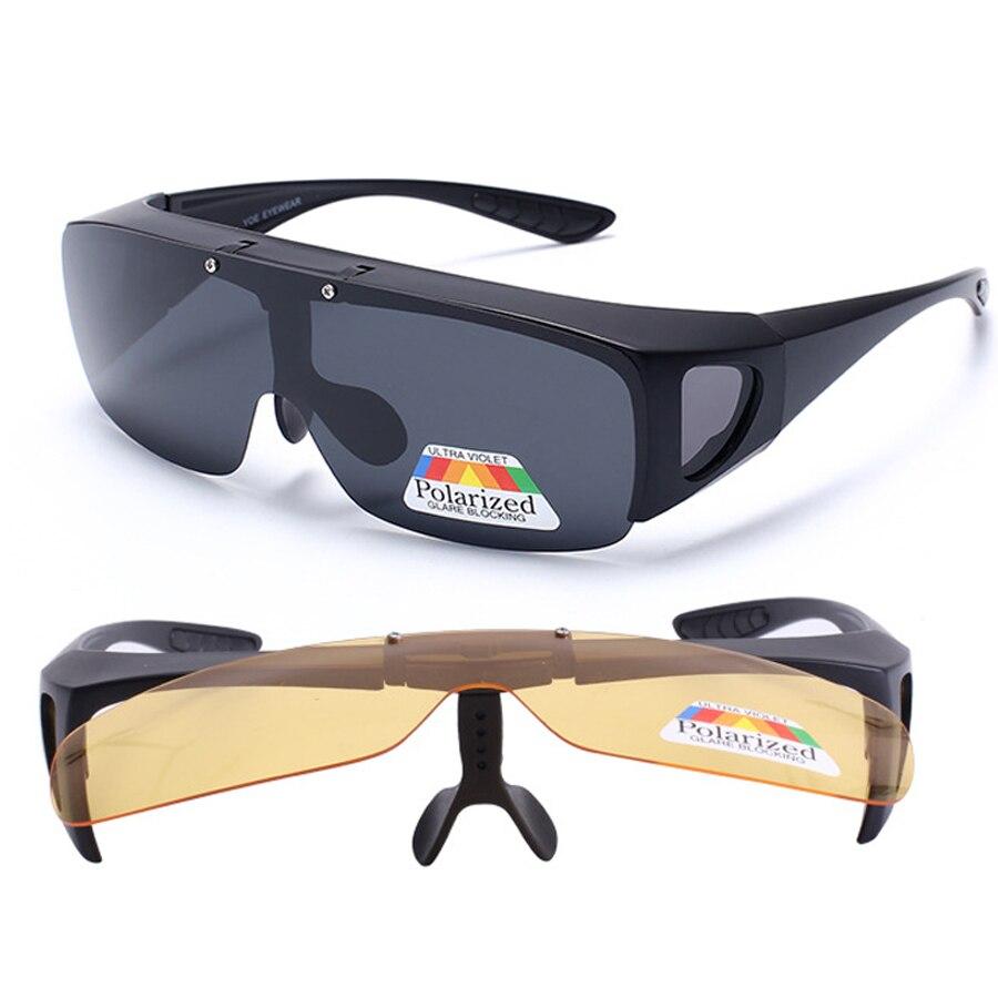 Fit Over Zonnebril Gepolariseerde Lenzen Mannen Vrouwen Vissen Zonnebril Cover Voor Bijziendheid Bril Brillen Sport Bril