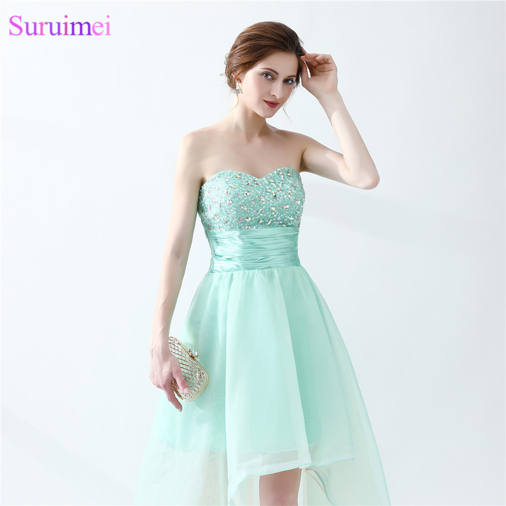Aliexpress.com : Buy Mint Green Prom Dresses Beaded Sweetheart ...