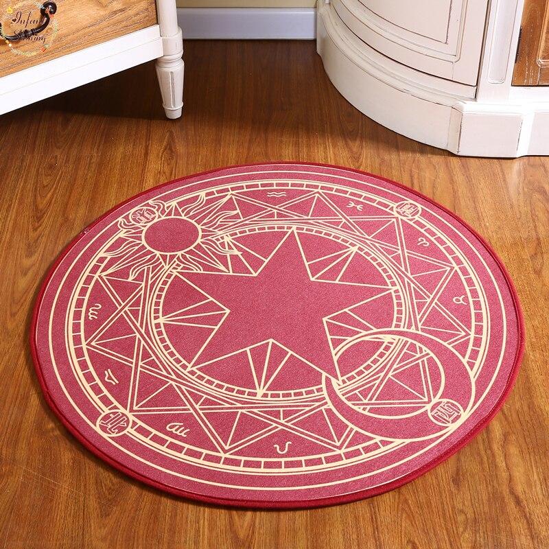Gyerekek hálószoba szőnyeg rajzfilm rózsaszín sakura varázslatos kör gyerekek kerek játék szőnyeg számítógép szék lóg kosár puzzle mats