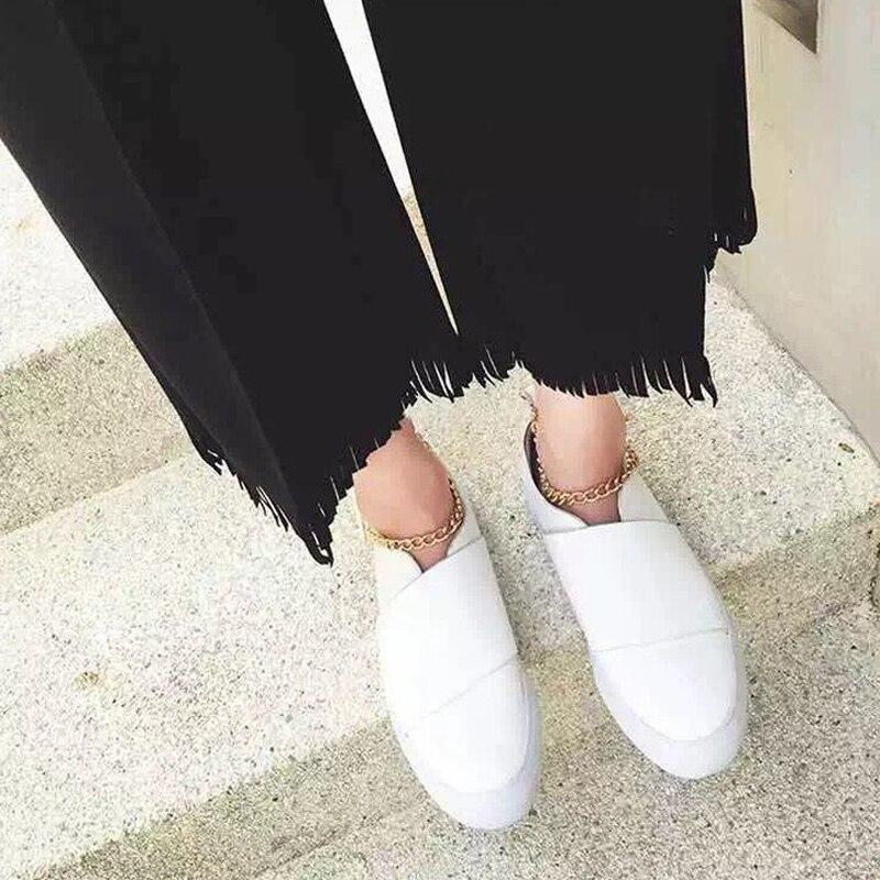 ... 2 Plataforma Mujer on 1 Marca Las Para Mujeres Tobillera Cuero De  Creepers Oro Decoración Zapatos ... 395e0324c92