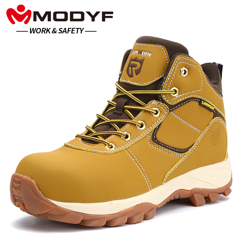 MODYF Hommes de Chaussures De Sécurité En Acier Embout Travail Bottes Anti-Smash Hydrofuge résistant à la Perforation Protection Chaussures