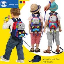 Alter 1-3-6 Harness Kleinkind Kinder Rucksack Kinder Tasche anti-verlorene Roboter Schultaschen Für Kindergarten Mädchen und Junge Band Walker