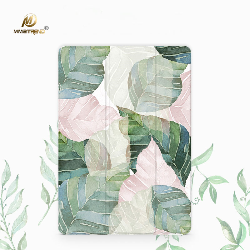 Mimiatrend Abstract Leaves PU Cover for Amazon Kindle Paperwhite 1 2 3 449 558 Voyage Case 6 inch Ebook Tablet Accessories Gift pink marble grain magnet pu flip cover for amazon kindle paperwhite 1 2 3 449 558 case 6 inch ebook tablet case leather case