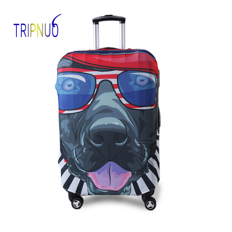 TRIPNUO Hip Hop Dog Cover For Suitcase Travel Elasticity Luggage Protective Covers Elastic Travel Accessories Trolley Cover