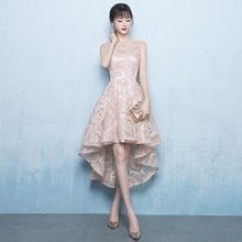 Suosikki Prom dress new summer elegant lace high low women formal evening dresses gown vestido de novia