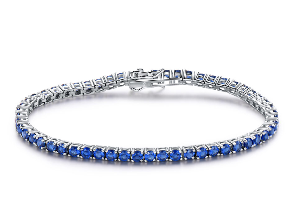 925 sterling silver sapphire bracelet for women (1)
