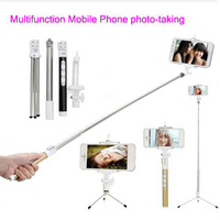 Pal Self Perche Palo Pau De Selfie Stick Bluetooth Monopod Tripod For Android iPhone Samsung Mobile Phone With Button Universal
