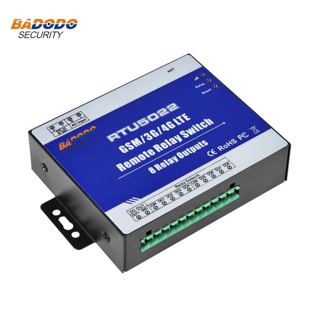 Badodo GSM 3G 4G SMS télécommande pompe contrôleur relais commutateurs par SMS APP minuterie pour dispositifs IOT réverbère 8 relais RTU5022