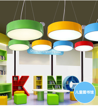 Фотография Modern lighting designer lights for kidsroom kindergarten eye protection LED light lustre infantil de quarto lampe led suspendue