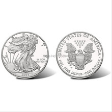 3pcs/lot. wholesale United States souvenir coins 2014 New silver plated The light of freedom Eagle 2016 the gift products