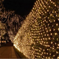 Kmashi String Lights 6M x 4M 672LEDs Net Mesh Fairy Twinkle Flash Lamp Home Christmas Wedding Xmas Tree Party Garland Decoration