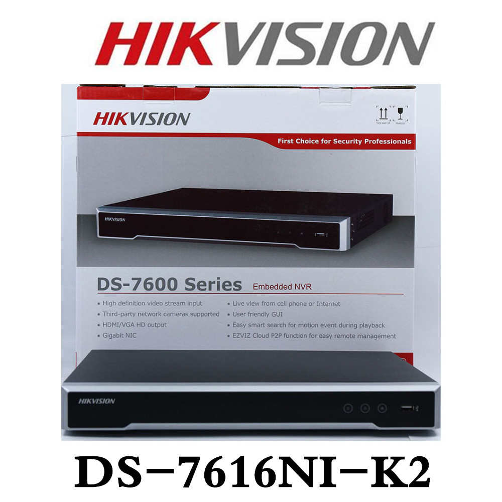 Hikvision DS-7608NI-K2 wbudowany Plug & Play 4 K, że NVR wsparcie H.265 8MP 8CH Hikvision rejestrator wideo sieci