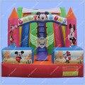 New Design Mickey Mouse Corrediça Inflável para As Crianças, Castelo Bouncy Inflável Slide Slide Inflável Qualidade Comercial