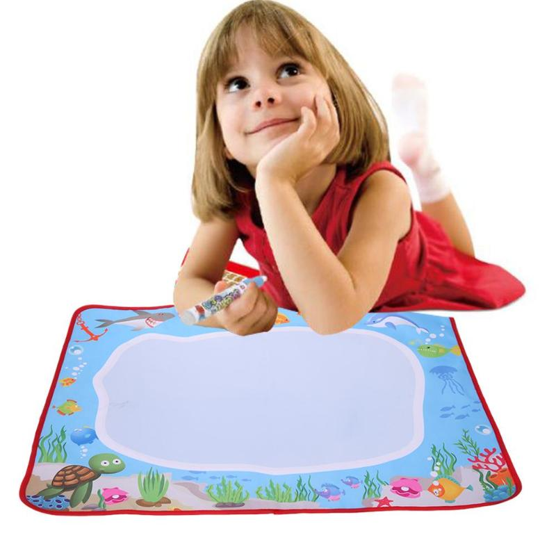 Magic Water Drawing Cloth Mat Kids Magic Animal Painting Doodle Picture Toy Play Mat Kids Early Educational Toy Drawing Board