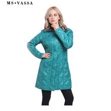 MS VASSA Women Parkas 2019 New Spring Winter Ladies jacket Turn-down collar fake fur long coats plus size 7XL Female outerwear цены онлайн