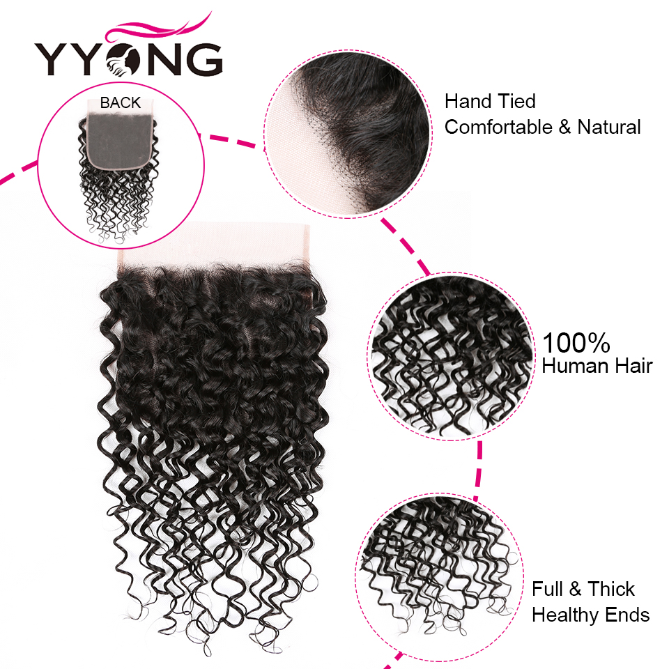 Yyong 4x4& 7x7 Lace Closure With Bundles  Water Wave  Bundles With Closure  8-30inch Bundles With Frontal 5